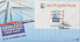 South Africa 2010 First Day Cover FDC Intel Philatelic Exhibition JOBURG Johannesburg Stamp On Stamp Show Architecture - Bridges