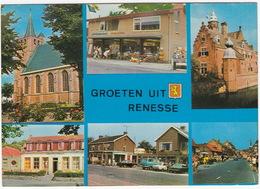 Renesse: OPEL REKORD-C & KADETT-A, FORD TRANSIT, BMW 1800 - Supermarkt 'Verseput' - (Holland) - PKW