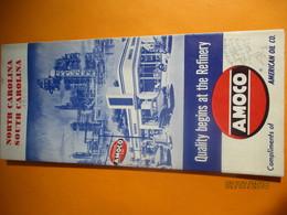 Carte Routiére/American Oil Company/AMOCO/ North CAROLINA/ South CAROLINA/ USA/Rand Mc Nally & Co Chicago/1950    PGC226 - Cartes Routières