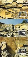Liechtenstein 1994: Strontianit Fadenquarz Eisen-Dolomit Zu 1035-37 Mi 1093-95 Yv 1034-36 Auf MK-Set 127 (Zu CHF 10.00) - Minéraux