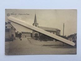 GENAPPE- BOUSVAL«L'EGLISE ET LA PLACE   «Panorama,animée 1931 (Édit Miesse - Denis )ALBERT . - Genappe