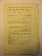 BULLETIN DES LOIS N°348 De 1811 - CONSCRITS - HOLLANDE ITALIE ALLEMAGNE - INDRE ET LOIRE DEPOT MENDICITE - Décrets & Lois