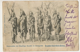 D.-S.-W. Afrika Hereroweiber Des Haupflings Kaweiho In Olomgobe Nude Girls Windhuk 1905 Spenker Hamburg - Namibie