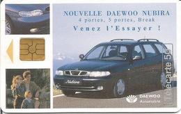 Télécarte DAEWOO NUBIRA 50 U - GEM2 09/97 Utilisée ( Thème Automobile Voiture ) - Frankreich