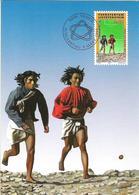 Liechtenstein 1994: Hopi-Indians Play Kickball Zu 1025 Mi 1083 Yv 1024 Maximum-Card (out Of MC-set 124) - Indiens D'Amérique