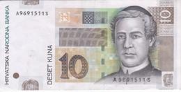 BILLETE DE CROACIA DE 10 KUNA DEL AÑO 2001 EN CALIDAD EBC (XF)  (BANKNOTE) - Croacia