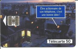 Télécarte France Télécom - OUVERTURE DU CAPITAL 50 U - SC7 09/97 Utilisée - Frankreich