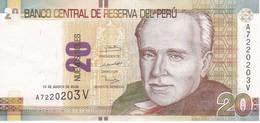 BILLETE DE PERU DE 20 NUEVOS SOLES DEL AÑO 2009 EN CALIDAD EBC (XF) (BANKNOTE) - Pérou