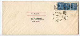 United States 1949 Airmail Cover Brooklyn, Mass. To Paris, France W/ Scott 810 X 3 - Etats-Unis