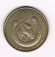 &-  TORHOUT N°C277  H.R.G. PEERDENFEESTEN 1983 - 100 THORALDI 200 EX. PROEFSLAG - Tokens Of Communes