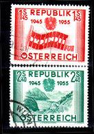 Austria-F-0114 - Emissione 1955 (o) Used - Senza Difetti Occulti. - 1945-.... 2nd Republic