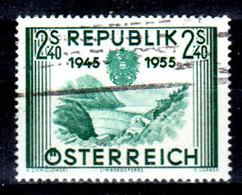 Austria-F-0115 - Emissione 1955 (o) Used - Senza Difetti Occulti. - 1945-.... 2nd Republic