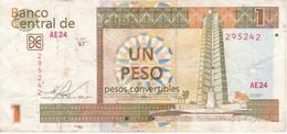 BILLETE DE CUBA DE 1 PESO CONVERTIBLE DEL AÑO 2013  (BANKNOTE) - Cuba