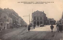 93-MONTREUIL-SOUS-BOIS-  ANGLE DU BOULVARD CHANZY ET DE LA RUE DE PARIS - LA POSTE ET LE CASINO - Montreuil