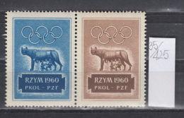 35K425 /  Olympic Games 1960 ROME , RZYM 1960 PKOL - PZF  , CINDERELLA LABEL VIGNETTE , Italia Poland Pologne Polen - Ete 1960: Rome