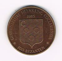 &-  KOEKELARE  1983 - 100 BEZANTEN  1500 EX. - Tokens Of Communes