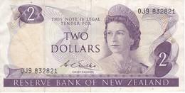 BILLETE DE NUEVA ZELANDA DE 2 DOLLARS DEL AÑO 1977-81 (BANKNOTE) (BIRD) - Nueva Zelandía