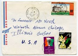 Ivory Coast 1982 Airmail Cover Abidjan To Chicago, Illinois W/ Multiple Stamps - Ivory Coast (1960-...)