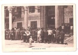 Cp , Religion , ISLAM , Musulmans En Prière , écrite 1916 , Ed : Rochat , Constantinople , Obtenue Sur Plaque Jougla - Turquie