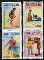 67529 Tanzania 1992 Barcelona Olympic Games (2nd Issue) Perf Set (sport Basketball Darts Billiards Table Tennis) - Tansania (1964-...)