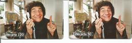 2 Télécartes Téléphone Et Cinéma Christian CLAVIER 50 U GEM Et 120 U OB1 T2G - 02/98 Utilisées - 1998