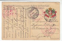 WWI Posta Militare, Corrispondenza Del R. Esercito - 126° Reggimento Fanteria Censored Travelled 1917 B180715 - 1900-44 Victor Emmanuel III