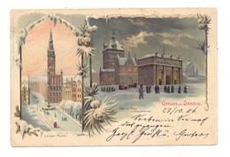 DANZIG, Gruss Aus..., Winterlitho, 1906, Kl. Druckstelle - Danzig