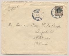 Nederlands Indië - 1920 - 17,5 Opdruk Op Veth - Correcte Enkelfrankering Van Weltevreden Naar Alkmaar / NL - Niederländisch-Indien
