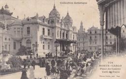 MONTE CARLO - PRINCIPAUTE DE MONACO - CPA ANIMÉE DE 1906 - BEL AFFRANCHISSEMENT POSTAL. - Monte-Carlo