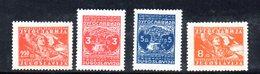 YUG59B - YUGOSLAVIA 1947,  Unificato N. 478/481 Nuova  * - 1945-1992 Repubblica Socialista Federale Di Jugoslavia
