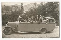 Photographie Autocar Excursions Lourdes Autobus Decouvrable Voyageur Autocars Oldtimer Photo Ancêtre Foto Picture - Cars