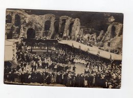 Carte Photo à Saintes Des Fêtes Des Ecoles Laïques En 1904 Arenes Ruines - Saintes
