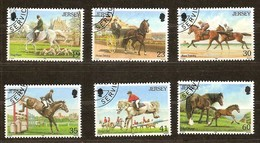 Jersey 1996 Yvertn°  748-753  (°) Oblitéré Used Cote 11,00 Euro Fauna Chevaux Horses Paarden - Jersey