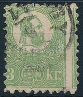 O 1871 Jó Min?ség? K?nyomat 3kr Er?s Képbe Fogazással (140.000) - Stamps