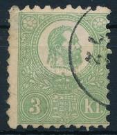 O 1871 K?nyomat 3kr (140.000) (elvékonyodás/ Thin Paper) - Stamps