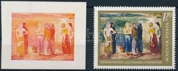 (*) 1967 Festmények III. 1,70Ft Vágott Bélyeg Kék, Fekete és Arany Színnyomat Nélkül. A Szakirodalomban Ismeretlen. / Mi - Stamps