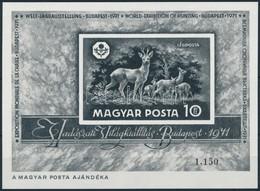 ** 1971 Vadászati Világkiállítás Jó Min?ség? Feketenyomat Blokk (90.000) - Stamps