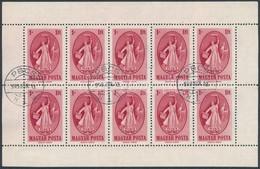 O 1949 Puskin 10-es Kisív 1949. Jún. 10. Nagyon Ritka Bélyegzéssel! (70.000++) - Stamps