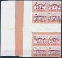 ** 1987 Kastélyok (II.) 50Ft ívközéprészes ívszéli 8-as Tömbben, ívközéprészen Hajtott, így Is Ritkaság RRR! - Stamps