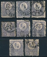 O 1871 8 Db Vegyes Min?ség? Réznyomat 25kr (~64.000) (mixed Quality) - Stamps