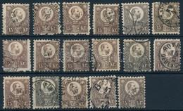 O 1871 Réznyomat 17 X 15kr, Benne Színváltozatok, Szép Bélyegzések (~ 52.000) - Stamps