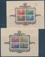 ** 1947 Roosevelt Blokkpár (50.000) (rozsdafoltok, Tintafolt, Törések / Stain, Ink, Folded)) - Stamps