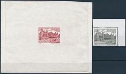 (*) 1995 Budapest Nevezetességei (III.) 22Ft Nyugati-pályaudvar Bélyegképes Próbanyomat Vörösesbarna Színben + Támpéldán - Stamps