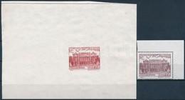 (*) 1995 Budapest Nevezetességei (III.) 22Ft Vigadó Egy Bélyegképes Próbanyomat Vörösesbarna Színben + Támpéldány, Nagyo - Stamps