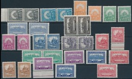 ** 1926 2 Db Peng?-fillér I. Szinte Komplett A Sor, 4f Hiányzik (49.400) (ráncok / Creases) - Stamps