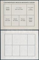 (*) 1984 Festmény (XXII.) A Szépm?vészeti Múzeum Ellopott Kincsei Blokk, Hátoldali Nyomat Nélkül +  Támpéldány (40.000) - Stamps