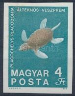 ** 1969 Földtani Intézet Vágott 4Ft Fekete Színnyomat Nélkül (40.000) (betapadás / Gum Disturbance) - Stamps