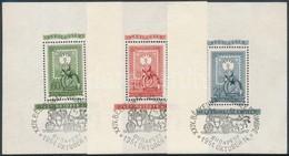 O 1951 80 éves A Magyar Bélyeg Blokk Sor Emlékbélyegzéssel R! (42.000+) - Stamps