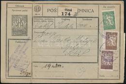 SHS 1921 Csomagszállító Magyar Ragjeggyel és Túlél? ,,ÓFUTAK' Bélyegzéssel, Jugoszláv Bélyegekkel Splitbe - Stamps