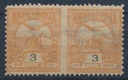 ** 1900 Turul 3f Középen Fogazatlan Pár, Ritka (gumihiba és Rövid Fogak / Gum Disturbance, Short Perfs.) - Stamps